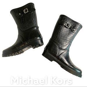 Michael Kors 6 -6.5 Rain Boots Rubber Reptile